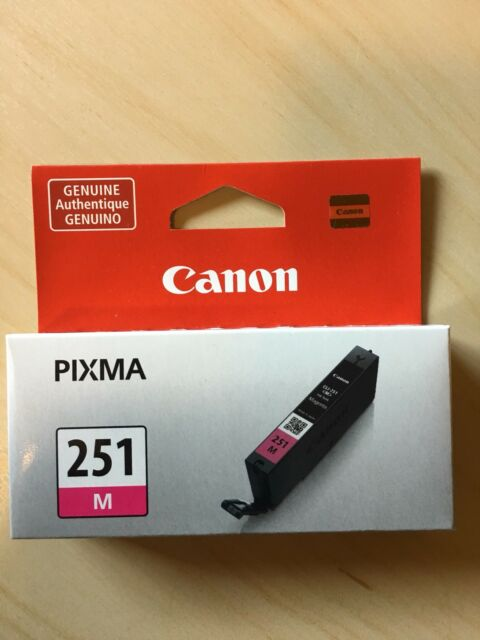 Canon CLI-251 Magenta Ink Cartridge CLI-251M 6515B001 Genuine New