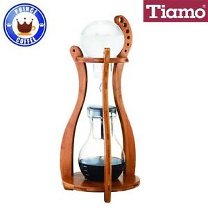 Coffee Maker From The Netherlands : Tiamo Cold Water Brew/Drip (Dutch) Coffee Maker 10 Cups Bamboo Wood Tower HG6333 eBay