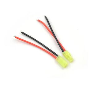 1paar-Mini-Tamiya-Stecker-Maennlichen-und-Weiblichen-2pin-Batterie-draht-16AWG-UE