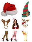 Basic or Deluxe Santa Elf Reindeer Antlers Turkey Hat Christmas & Xmas Glasses