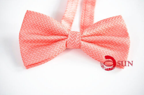 MEN BOWTIE TUXEDO BOW TIE Pink Light Red PARTY BALL HIGH Quality