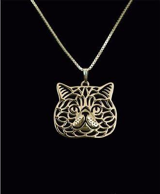 Halskette mit Katze Anhänger silber Kitty Kitten stehend Cat sitzend