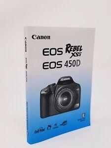 canon rebel xsi eos 450d genuine instruction owners manual book rh ebay com Canon EOS 7D Canon EOS Rebel XSi