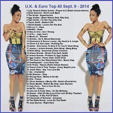 Promo Video DVD, UK & Euro Top 40 Hits, Sept 2014! Dance/Pop Videos Only on Ebay