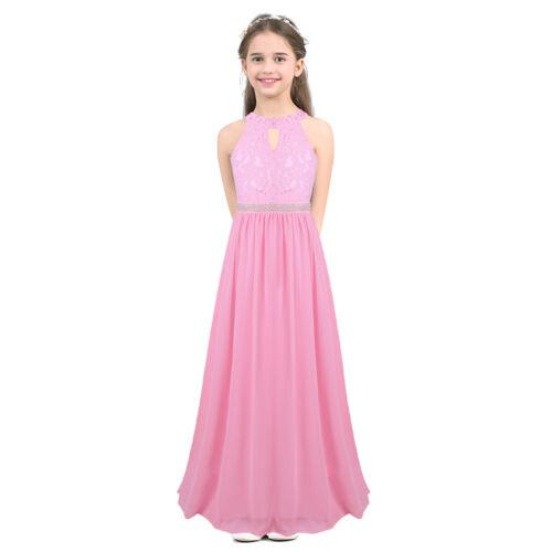 Flower Girl Dress Kids Princess Long Formal Pageant Wedding Bridesmaid Communion