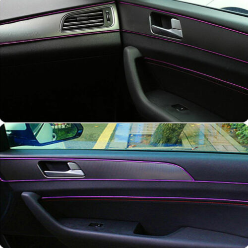 16.4ft Purple Universal Car Interior Edge Gap Molding Trim Strip Decorative Line