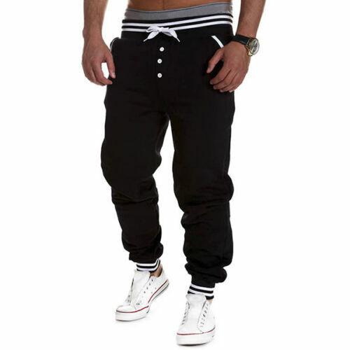 Mens Casual Sweatpants Sports Baggy Jogger Harem Pants Running Tracksuit Bottoms