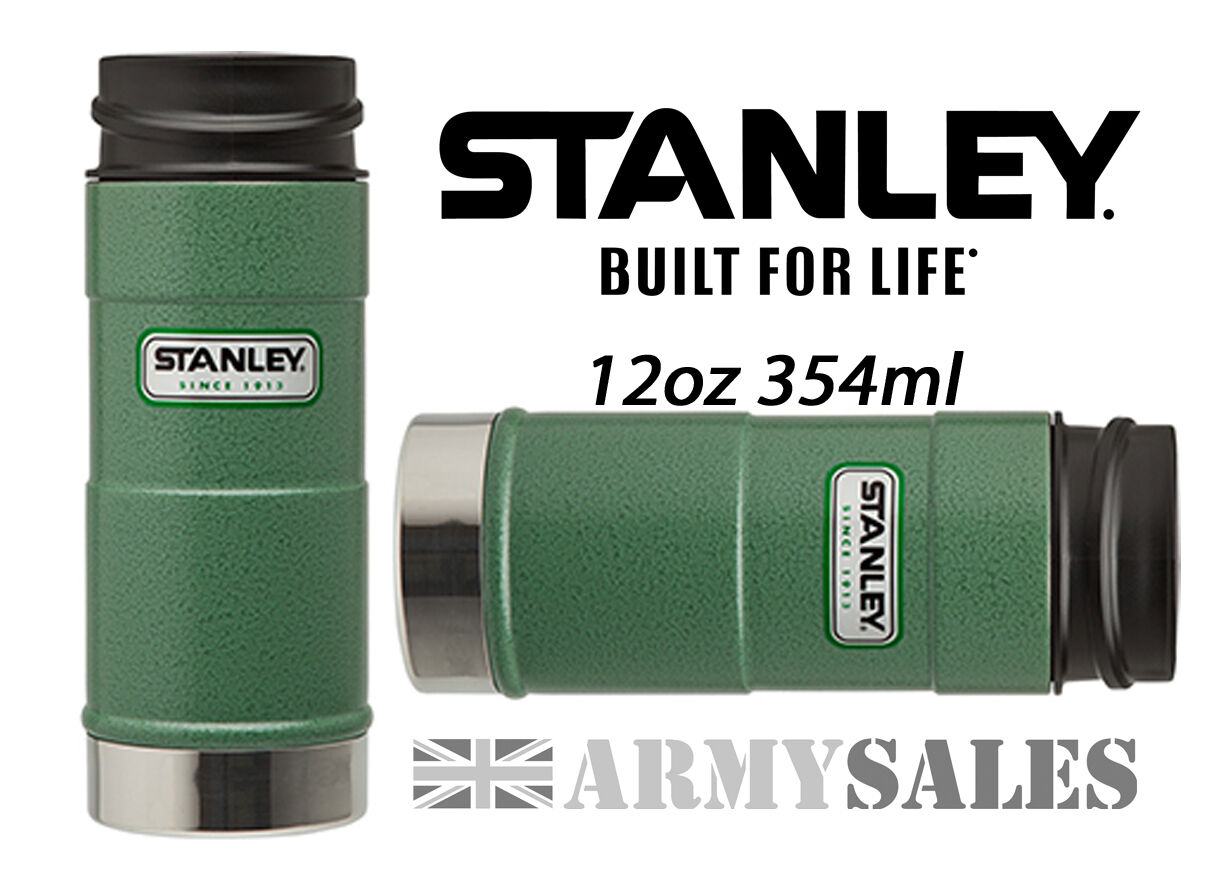 Stanley Classic Grün One Hand 5 Hrs Hot Mug Leak Proof Mug Hot Drinks Flask 12oz 354ml f2d18b