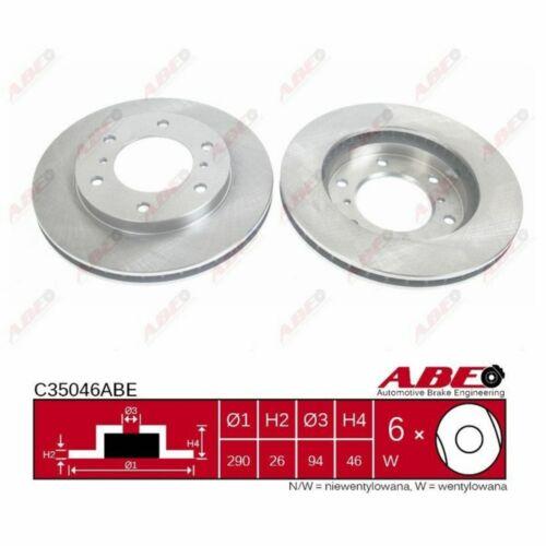 1 Stück ABE C35046ABE Bremsscheibe