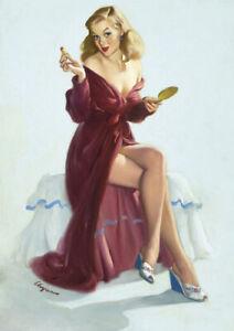 CANVAS Elvgren Pin-Up Girl Bare Essentials Poster Art print POSTER