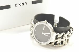 DKNY-NY2723-Astoria-Black-Dial-Silver-Stainless-Steel-Chain-Double-Wrap-Strap