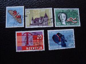 Switzerland-Stamp-Yvert-and-Tellier-N-601-A-605-Obl-A1-Stamp-Switzerland-R