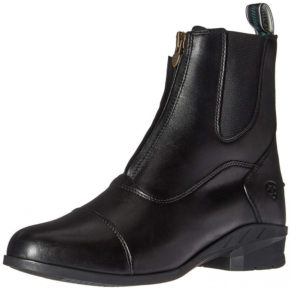 Ariat Women's Heritage IV Zip Paddock Boot, Black, 6 C US