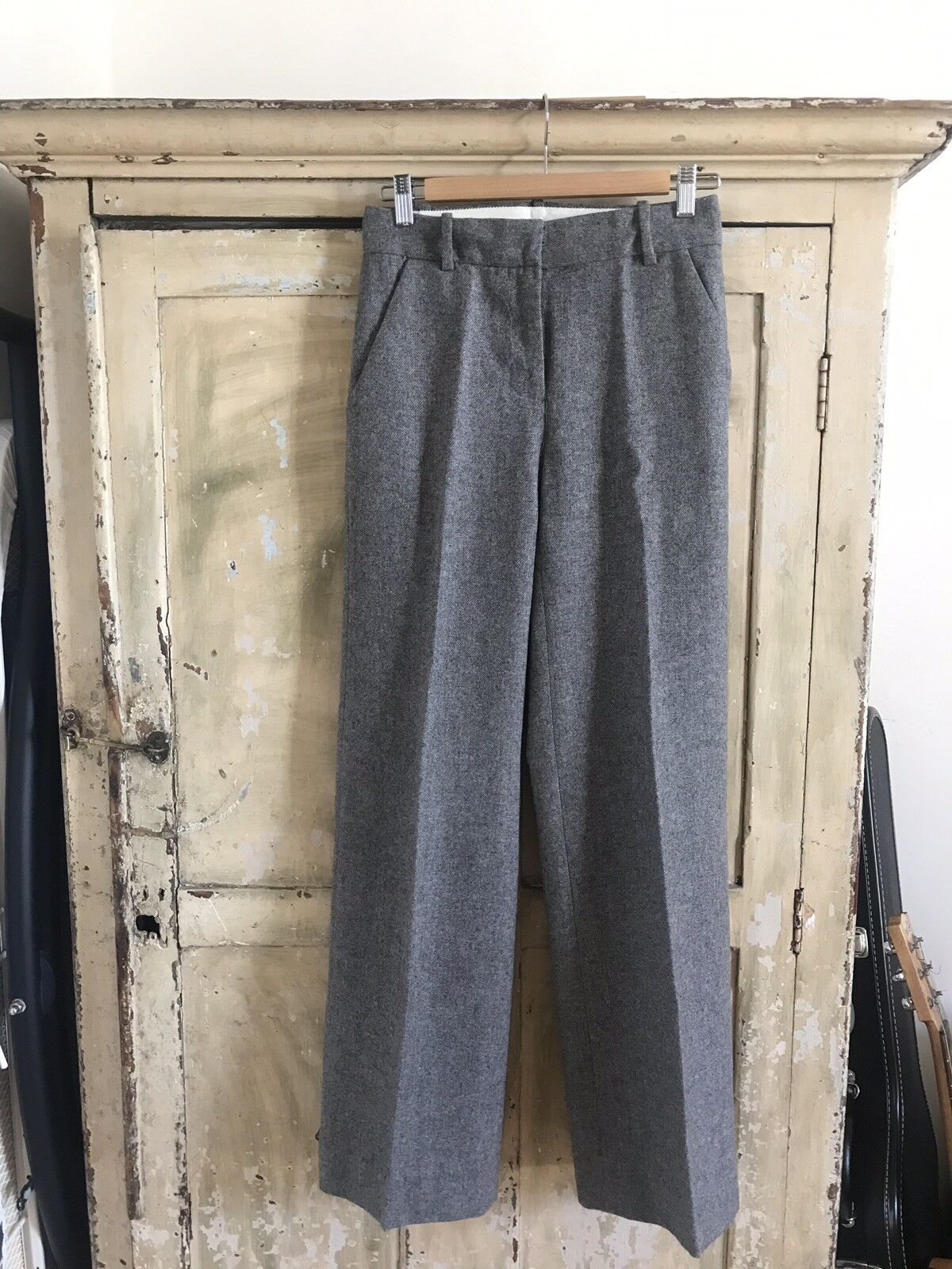 J Crew Hutton Trouser Heavy Wool Blend Grey Size 00 Brand New