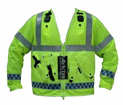 Focoso New Ex Police Hi Vis Arktis Tac Vest Traffic Utility Equipment Over Jacket