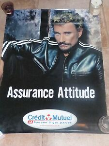 8582814c69bd1f JOHNNY HALLYDAY - CREDIT MUTUEL !!!Affiche promo   Promo poster !