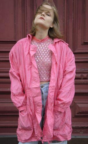 Avance 90 des nylon Manteau années Vintage en vent Lady Parka Creation True Lady Veste coupe rose AUZqX