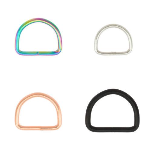 D-Ringe 40x30x5mm Stahl Halbrund Ring Halbrunde D Ringe Hundehalsband Farbwahl