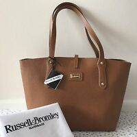 Genuine Russell And Bromley Katie Mini Tan Leather Bag With Tags