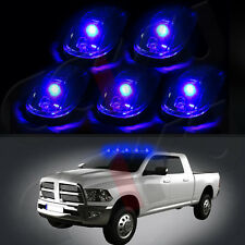 5 Oval Top Led Cab Roof Lights Running Marker CLEAR Lens For Dodge RAM 2500/3500
