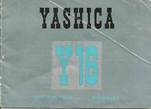 Yashica-Y16-Genuine-Instruction-Book-User-Manual-Guide-Instructions