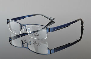 New Mens Sporty Half Rimless Eyeglasses Frames Rx ...