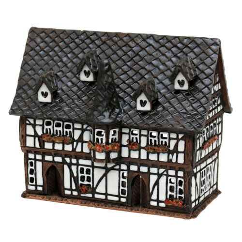 Ceramic Tea Light House Tealight Holder Scottish Rathaus 13 CM 40634