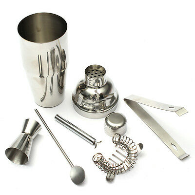 5pcs/Set 750ml Stainless Steel Cocktail Shaker Mixer Drink Bartender Tool Kit