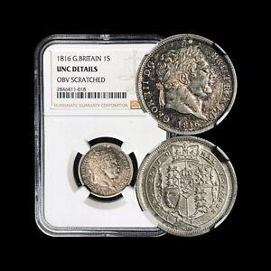 1816-Great-Britain-Shilling-NGC-UNC-George-III-Bullhead