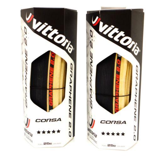 Vittoria Corsa G2.0 Competition Tan Para Road Clincher Tire 700 x 25C Skin Black