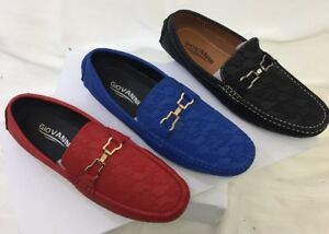 96a634babf1 MEN GIOVANNI DRESS SHOE LOAFER CASUAL STYLE SLIP-ON BLUE RED BLACK ...