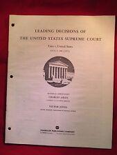 LEADING DECISIONS OF THE UNITED STATES SUPREME COURT YATES v.UNITED STATES (26)