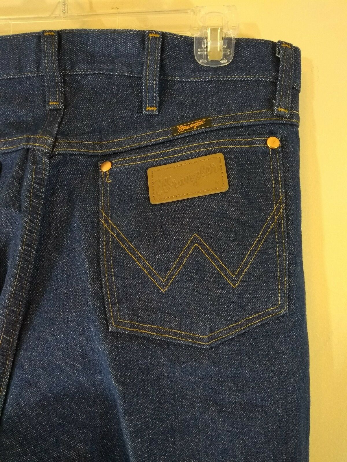 Mens WRANGLER Jeans 34x44 Straight Leg 100% Cotton Vintage