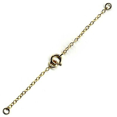 Rolled Gold Necklace Necklet Extender Safety Chain Bolt /& Jump Ring FS33