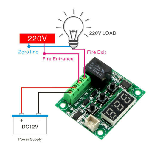DC12V W1209 Digital Cool//Heat Thermostat Thermometer Temperature Controller