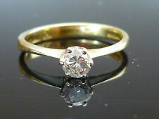 Stunning 18ct Yellow gold 0.25ct Brilliant cut diamond solitaire ring Nov17