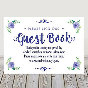 guest book sign Write us wishes Gold /& Navy Wedding signs custom wedding