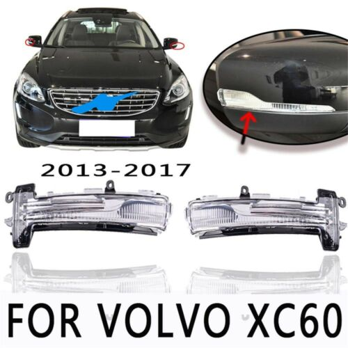 LH+RH Side Turn Signal Mirror Assemble LED Indicator Lights For Volvo XC60 13-17