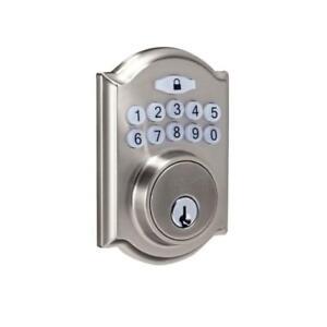 Satin Nickel Deadbolt Door Electronic Lock Keyless