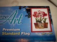 Breeze Art Flag 28 X 40 three Amaryllis Christmas Flag