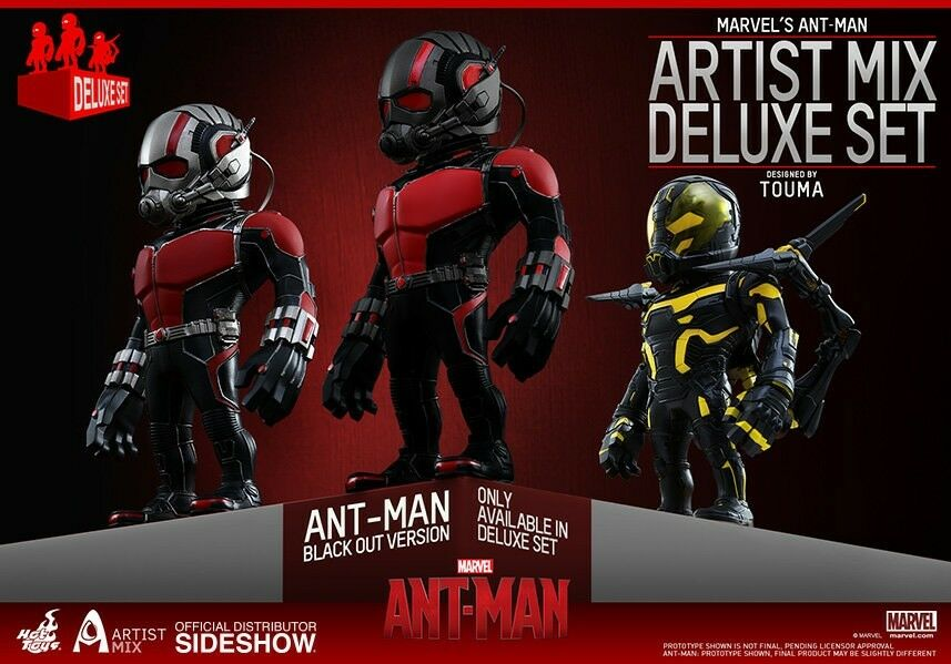 Ant-Man Artist Mix Collection Deluxe Set of 3 by Hot Toys