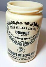 JAMES KEILLER & SON LTD DUNDEE ORANGE MARMALADE MILK GLASS CROCK JAR Scotland
