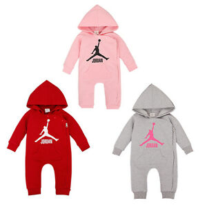BABY-JORDAN-HOODED-ROMPER-BABYGROWS-BOYS-GIRLS-OUTFIT-BABY-GROWS-TOP-CLOTHES-SET