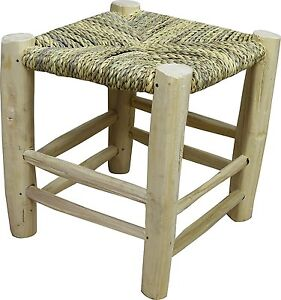 Strange Details About Moroccan Craft Stool Handmade From Wicker Rope And Natural Laurel Wood H 50 Cm Andrewgaddart Wooden Chair Designs For Living Room Andrewgaddartcom