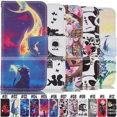 Holder Protective Wallet Card Flip Stand PU Leather Case Cover Back For Samsung