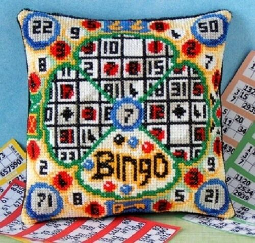 Bingo mini coussin point de croix kit Sheena Rogers Designs