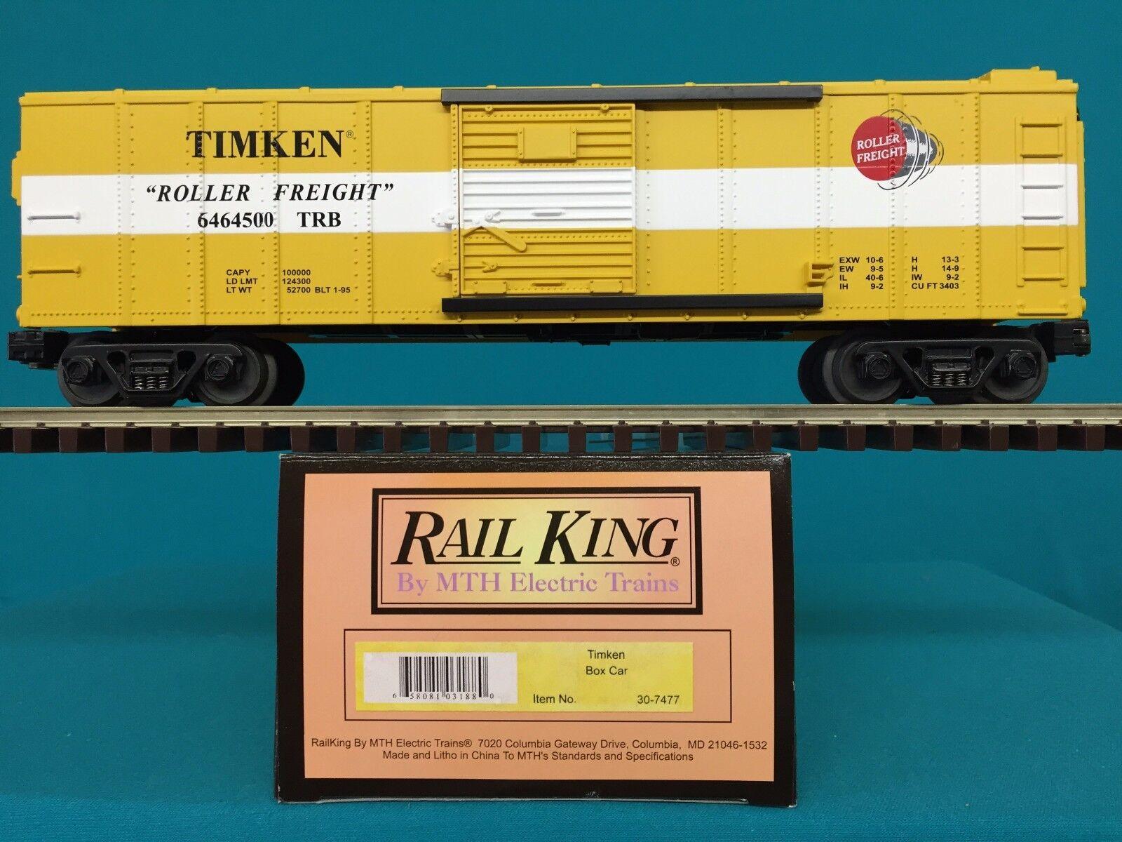 MTH Railking Box Car Timken  O O27 Boxcar 30-7477