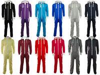 Unisex Women Men Plain Onesie Playsuit Ladies All in One Jumpsuit