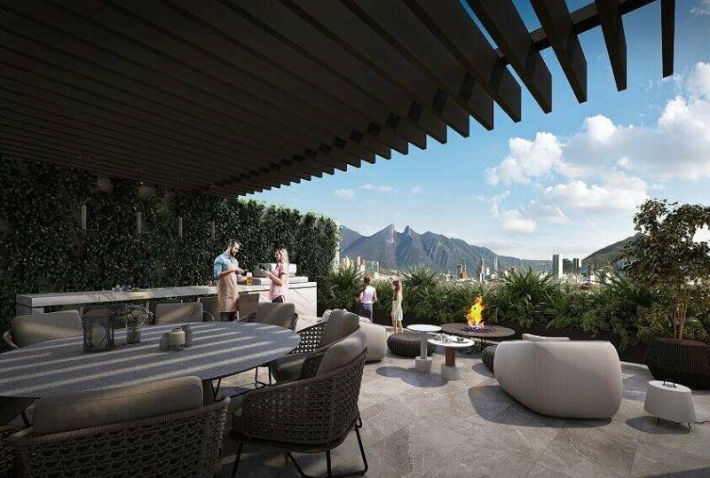 Departamento en Venta en Ohrus, Santa Maria, Monterrey, 1 Recámara