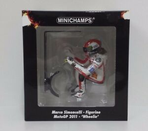 Minichamps Marco Simoncelli 1/12, Modèle Figure Motogp 2011 Wheelie 1158 Pcs